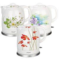 Электрический чайник Maestro 1,5 л (керамика) голубой, красный, розовый