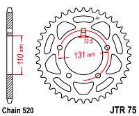 Звезда задняя JT JTR75.44