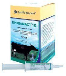Бровамаст 1Д, шприц 10 мл, 12 шт - лечение мастита бактериальн. этиологии у лактирующих коров
