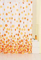 Шторка для ванной цветные круги AWD02100572