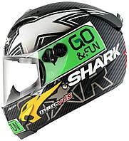 Мотошлем Shark Race-R Pro Carbon Redding Dual  черный зеленый белый, L