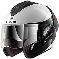Шлем Shark EVOLINE 3 HAKKA black\white M HE9352EWKR