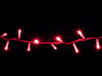 Гирлянда STRING червона, провод белый