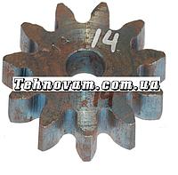 Шестерня бетономешалки 11 зубов (15*65 h18, 11 зубов прямо) Штифт.
