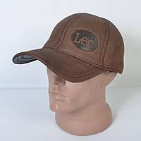 Мужская модная Кожанная теплая кепка на флисе с ушками - 29-511 (кофе)
