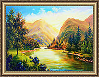 Картина Горный летний пейзаж. 300х400 мм. №344
