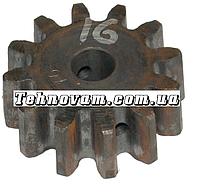 Шестерня бетономешалки 12 зубов (15*62 h24, 12 зубов прямо) Штифт.