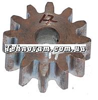 Шестерня бетономешалки 12 зубов (17*63 h24, 12 зубов прямо) Штифт.