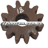 Шестерня бетономешалки 12 зубов (20*64 h24, 12 зубов прямо) Штифт.