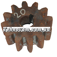 Шестерня бетономешалки 12 зубов (19*68 h25, 12 зубов) Шпонка.