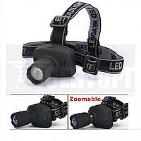 Налобный фонарь 3W черный 6612