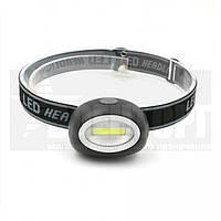 Налобный фонарь черный 3W 6649