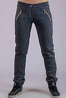 Женские утепленные брюки Молния (темно-серые)