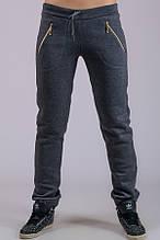 Жіночі брюки утеплені Блискавка (темно-сірі)