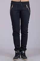 Женские утепленные брюки Молния (черные)