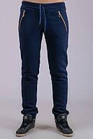 Женские утепленные брюки Молния (темно-синие)