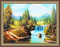 Картина Горный водопад. 300х400 мм. №356