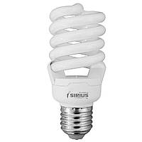 Лампа Люминесцентная Sirius ЭКО Спираль 20W 2700K E27 (3-GFL-20-215) 3 лампы