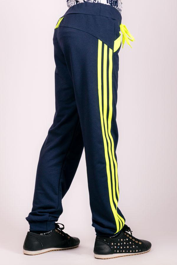 Детские спортивные штаны Лампас (темно-синие)