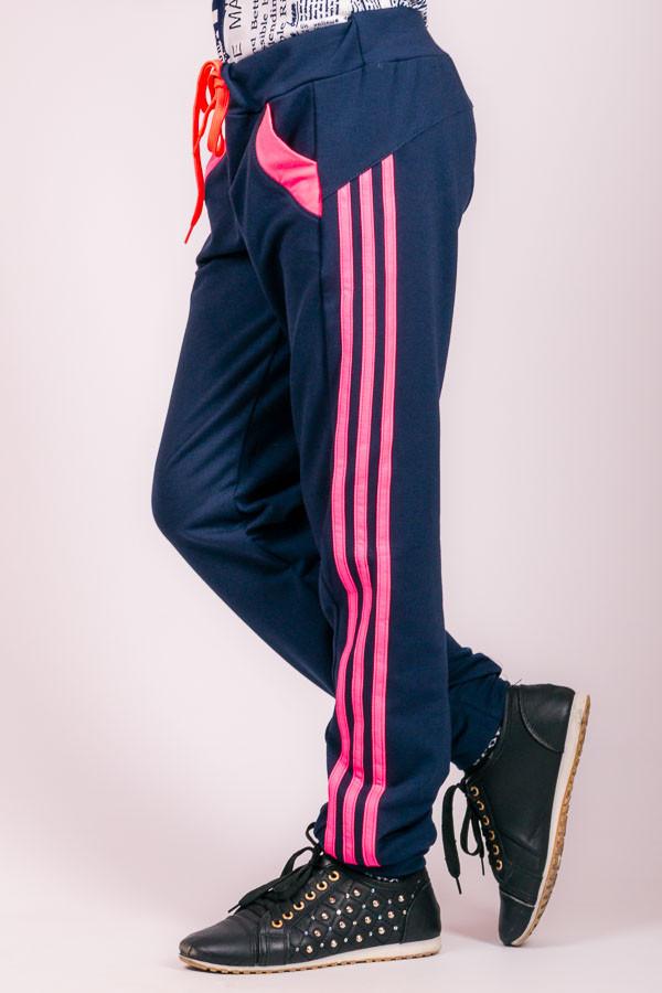 Детские спортивные штаны Лампас (темно-синие), фото 1