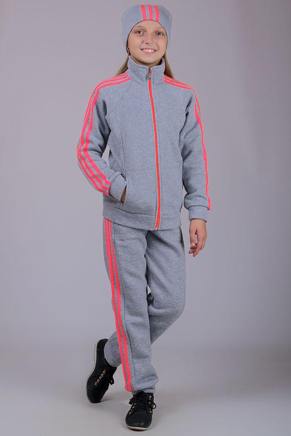 Теплый детский спортивный костюм Training (светло-серый)