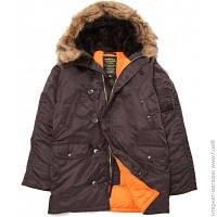 Куртка Alpha Industries Slim Fit N-3B Deep XL, Brown/Orange (MJN31210C1)