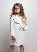 """Нарядное детское платье """"Лолита"""" с бантом белое"""
