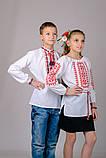 """Вышиванка для девочки """"Орнамент"""" (красный), фото 3"""