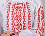 """Вышиванка для девочки """"Орнамент"""" (красный), фото 5"""