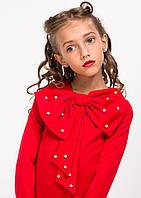 """Нарядное детское платье """"Лолита"""" с бантом красное"""