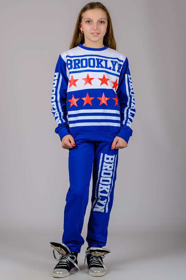 Детский трикотажный спортивный костюм BROOKLYN (синий)
