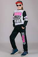 Детский трикотажный спортивный костюм VISION (черный), фото 1