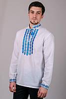 Мужская Сорочка-Вышиванка (синий орнамент)