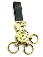 """Брелок для ключей с кожаным ремешком """"Стразы"""" (19578)"""