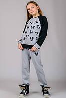 Детский трикотажный костюм Микки (серый), фото 1