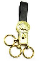 """Брелок для ключей с кожаным ремешком """"Стразы"""" (19580)"""