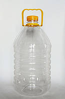 Пластикова пляшка ПЕТ 5л. (прозора)