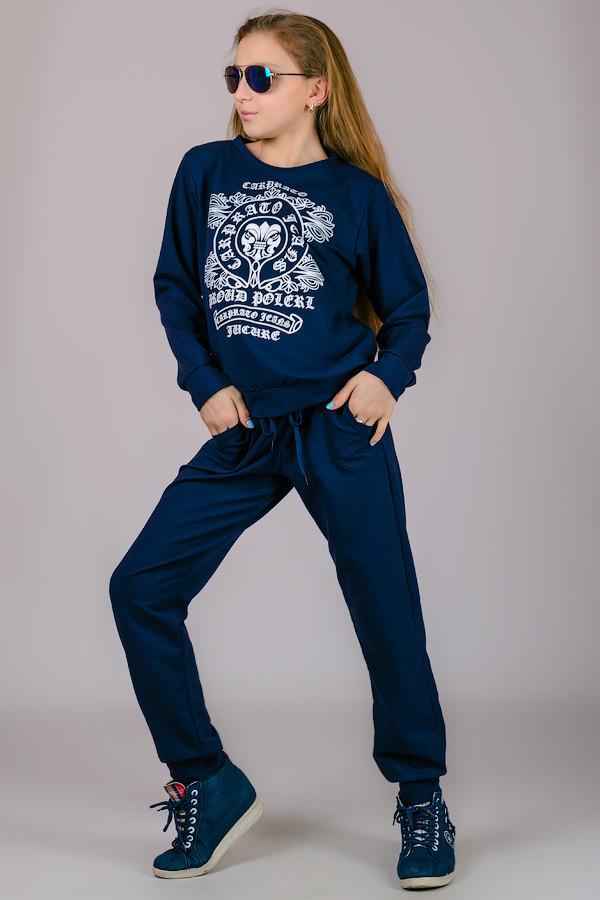 Трикотажные штаны на подростка Гольфстрим (темно-синие)