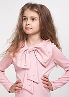 """Нарядное детское платье """"Лолита"""" с бантом розовое"""