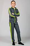 Трикотажный спортивный костюм детский (темно-серый), фото 4
