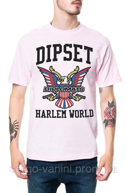 Футболка с принтом The Diplomats Dipset Harlem World  мужская