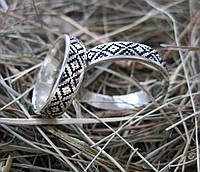 Обручальные кольца с украинским орнаментом, фото 1