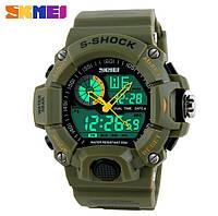 Спортивные военные наручные часы Skmei 1029 Military Green