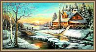 Картина Зимний пейзаж. 500х1000 мм. №383