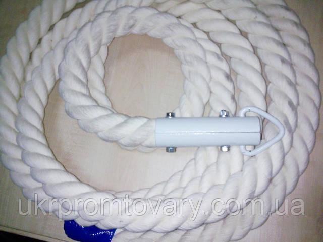 Канат для лазания d=30 мм 3 метра гимнастический с кронштейном