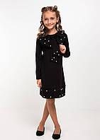"""Нарядное детское платье """"Лолита"""" с бантом черное"""