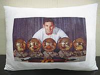 Подушка с фото футбол Месси Барселона