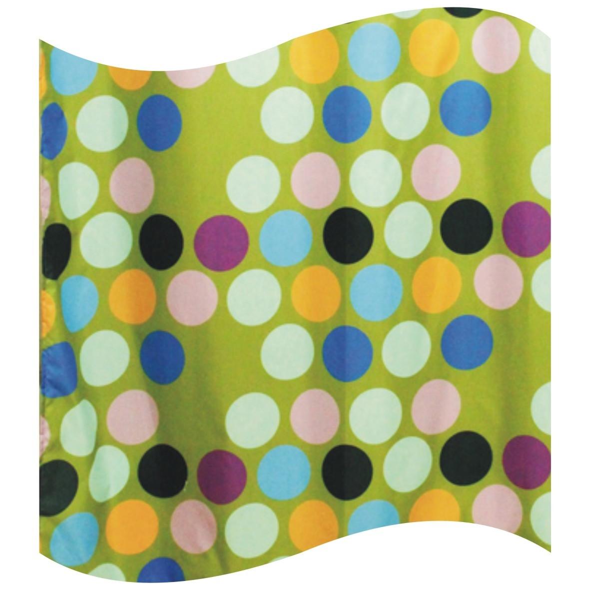 Шторка для ванной цветные круги AWD02100935