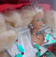 Лялька Барбі колекційна Святкова 1995 ( Barbie Happy Holidays Special Edition Doll (1995), фото 8