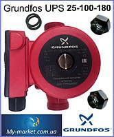 Насос циркуляционный Grundfos UPS 25-100-180 вал металл